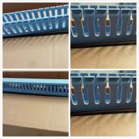 行线槽30x30蓝色行线槽pvc布线槽电线槽装潢线槽