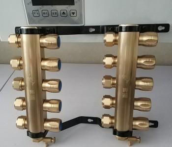 分水器家庭采暖地暖竹节式分水器连体球阀集分水器