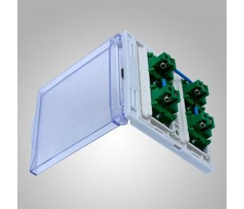 【厂家现货】通用四开86型浴霸开关面板4开带防水盒