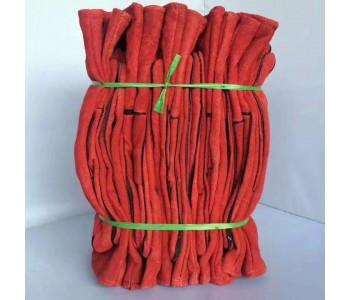 翻毛皮红双里电焊手套二层电焊劳保手套