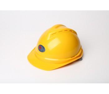 V型ABS材质顶部带透气卷边  坚固不易变形安全帽