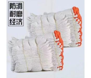 劳保手套 棉线白手套加厚加密耐磨纱手套防滑