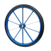 8斤板圈骆驼实心轮力车轮PU实心胎